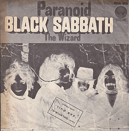 Black Sabbath - Paranoid / The Wizard - Israel - Vertigo  6059 010 - 1970 - Back