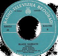 Black Sabbath - Sabbath Bloody Sabbath / Changes - Yugoslavia - Radio-Televizija Beograd S-53.726 - 1973 - Side B