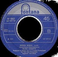 Black Sabbath -Evil Woman / Wicked World - UK - Fontana 7437 - 1970 - Side 2