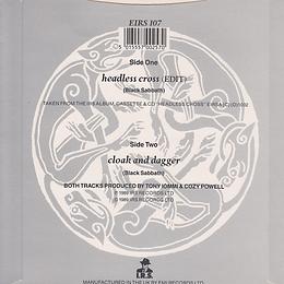 Black Sabbath - Headless Cross / Cloak And Dagger - UK  - I.R.S. EIRS 107 - 1989 - Back