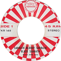 Black Sabbath - Who Are You / Spiral Architect / A National Acrobat - Thailand - Royalsound TKR 149 - 197?- side 1