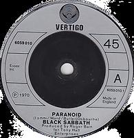 Black Sabbath - Parnoid Vertigo UK 1970
