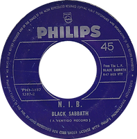 Black Sabbath  - The Wizard / N.I.B. - Phillipines - Philips PHI-1187 - 197? - Side 2