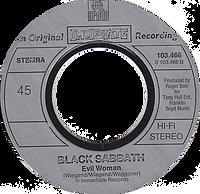 Black Sabbath - Paranoid / Evil Woman - Netherlands - Ariola 103.466 - 1981 - Side 2