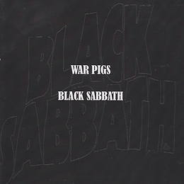 War Pigs / Black Sabbath Clear vinyl with a black label. No other information.