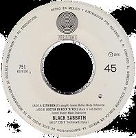 Black Sabbath  - Esta Bien (It's Alright) / Doctor en Rock'n'Roll (Rock'n'Roll Doctor) - Mexico - Vertigo 1751 (6079 100)- 1976 - Side B