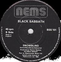 Black Sabbath - Paranoid / Snowblind - UK - NEMS BSS 101 - 1980 Side 2