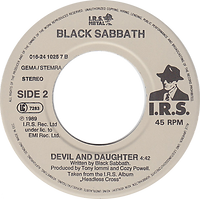 Black Sabbath - Call Of The Wild / Devil And Daughter - Netherlands -  I.R.S.  016.24 1025 7 - 1989 - Side 2