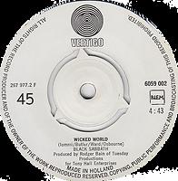 Black Sabbath - Evil Woman / Wicked World - Netherlands - Vertigo 6059 002 - 1970 - Side 2
