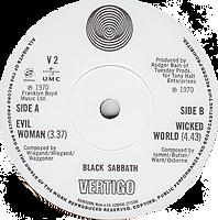 "Black Sabbath - Evil Woman / Wicked World - UK - Vertigo V2 - 2012(Inclued in the LP Box ""The LP Collection 1970-1978) - Side 2"
