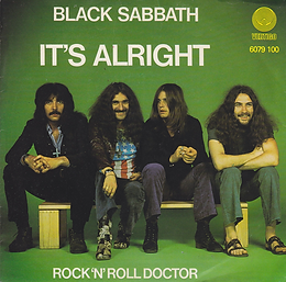 Black Sabbath - It's Alright / Rock'n'Roll Doctor - Netherlands - Vertigo 6079 100 - 1976 - Front