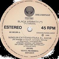 Ningun Extrano Para El Amor ( No Stranger To Love) / CBlack Sabbath - Corazon Enojado (Angry Heart) - Argentina - Vertigo 00 00180 - 1986 - Side A