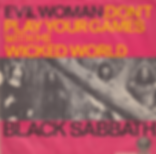 Black Sabbath - Evil Woman, Don't Play Your Games With Me / Wicked World - Singapore - Vertigo  6059 002 - 1970 - Back