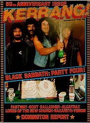 Black Sabbath - Kerrang No.50 - 1984