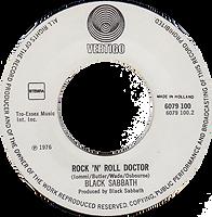 Black Sabbath - It's Alright / Rock'n'Roll Doctor - Netherlands - Vertigo 6079 100 - 1976 - Side 2