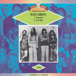 Black Sabbath - Paranoid / Iron Man - UK - Old Gold OG 9467 - 1985