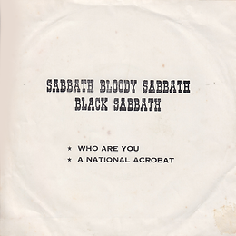 Black Sabbath - Who Are You / Spiral Architect / A National Acrobat - Thailand - Royalsound TKR 149 - 197?- Back