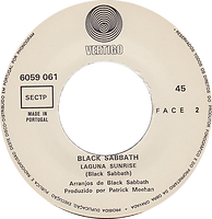 Black Sabbath  - Tomorrow's Dream / Laguna Sunrise - Portugal - Vertigo  6059 061 - 1972 - Side 2