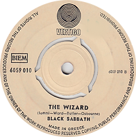Black Sabbath - Paranoid / The Wizard - Greece - Vertigo 6059 010 - 1970 - Side 2