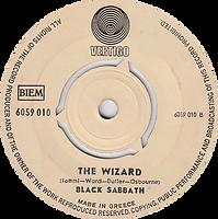 Black Sabbath - Paranoid / The Wizard - Greece - Vertigo 6059 010- 1970 - Side 2