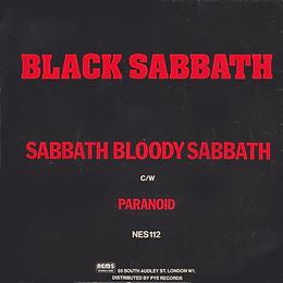 Black Sabbath - Paranoid / Sabbath Bloody Sabbath - UK - NEMS 112 - 1978 back