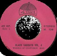 Black Sabbath - Wheels Of Confusion / Under The Sun - Thailand 4 Track - M.106 - 197?- side 1