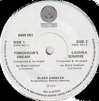 Black Sabbath - Tomorrow's Dream / Laguna Sunrise - Australia - Vertigo 6059 061 - 1972