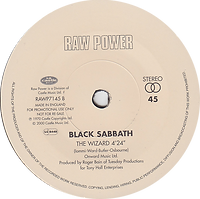 Black Sabbath - Paranoid / The Wizard - UK - Raw Power RAWP7145 - 2000 (For Promotional use only) - Side 2