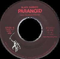 Black Sabbath - Paranoid / Snowblind - Japan - NEMS SPO6-5 - 1980 - Side 1