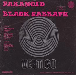 Black Sabbath - Paranoico / Ensalada DeRatas / Funeral Electrico - Mexico - Vertigo 6276 004 - 1971 - Back