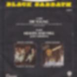 Black Sabbath - Die Young / Heaven And Hell (Live) - UK - Vertigo SAB 4- 1980 - Back