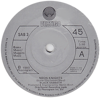 Black Sabbath - Neon Knights / Children Of The Sea (Live) - Ireland - Vertigo SAB 3 - 1980 - Side A