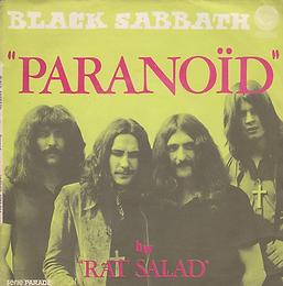 Black Sabbath - Paranoid / Rat Salad - France -Vertigo 6059 014 -- 1970 - Front