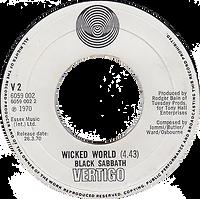 Black Sabbath - Evil Woman / Wicked World (Demo) - UK Vertigo V2 -1970 - Side 2