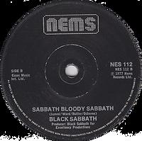 Black Sabbath - Paranoid / Sabbath Bloody Sabbath - UK -NEMS 112 - 1978 - Side 2