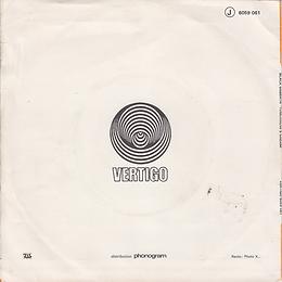Black Sabbath - Tomorrow's Dream / Laguna Sunrise - France - Vertigo 6059 061-1972 - Back