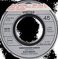Black Sabbath - Sabbath Bloody Sabbath / Changes - Netherlands - Vertigo 6165001- 1973 - Side 1