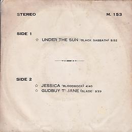 Black Sabbath - Under The Sun / Bloodrock - Jessica / Slade Gudbuy T' Jane - THhailand - 4 Track M.153 - 197?- Back