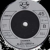 Black Sabbath - Sabbath Bloody Sabbath / Changes - UK - WWA 002- 1973 Side 2