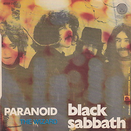 Black Sabbath - Paranoid / The Wizard - Italy - Vertigo  6059 010 - 1970 - Back