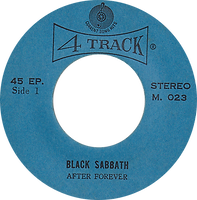 Black Sabbath - After Forever / Fairies Wear Boots - Thailand - 4 Track M.0123 - 197?- Side 1