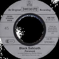 Black Sabbath - Paranoid / Evil Woman - Netherlands - Ariola 106.722 - 1983- Side 1