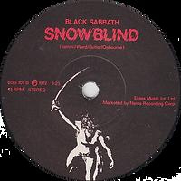 Black Sabbath - Paranoid / Snowblind - UK - NEMS BSS 101 - 1980 - Side 2