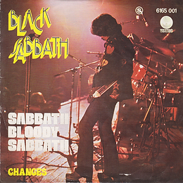 Black Sabbath - Sabbath Bloody Sabbath / Changes - Portugal - Vertigo  6165 001 - 1973 - Front with white letters