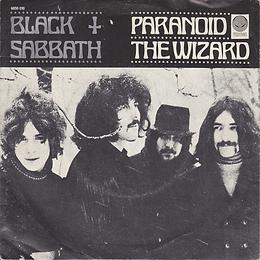 Black Sabbath - Paranoid / The Wizard - Netherlands - Vertigo 6059 010- 1970 - Front