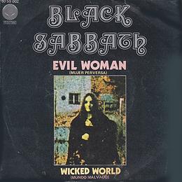 Black Sabbath - Evil Woman / Wicked World - Spain - Vertigo 6059 002 - 1970 - Front