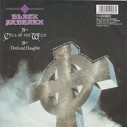 Black Sabbath - Call Of The Wild / Devil And Daughter - Netherlands - I.R.S.  016.24 1025 7 - 1989 - Back