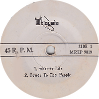 George Harrison - What Is Life / John Lennon - Power To The People Mixtures - The Pushbike Song / Black Sabbath - Paranoid Malaysia MREP 9019 - 197? - Side 1