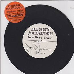 Black Sabbath - Headless Cross / Cloak And Dagger - UK - I.R.S. EIRS CB 107 - 1989 - Autograhed by Tony Iommy.
