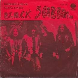 Black Sabbath - Tomorrow's Dream / Laguna Sunrise - Portugal - Vertigo  6059 061 - 1972 - Front